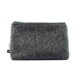 HARRIS TWEED WASH BAG MITERED TRADITIONAL