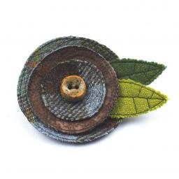 HARRIS TWEED ART DECO CORSAGE TRADITIONAL