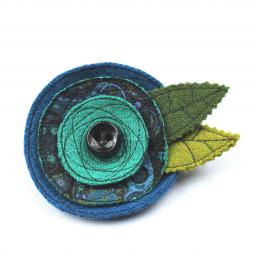 HARRIS TWEED ART DECO CORSAGE BRIGHT