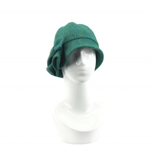 HARRIS TWEED CLOCHE HAT