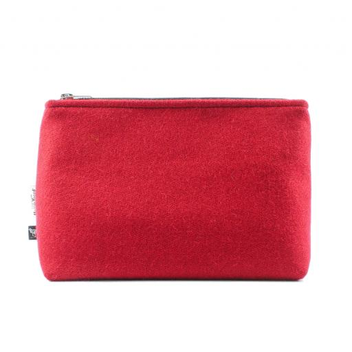 HARRIS TWEED WASH BAG MITERED BRIGHT
