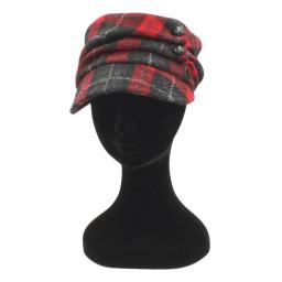 HARRIS TWEED CADET HAT BLACK RED CHECK_clipped_rev_1.jpg