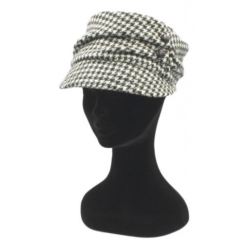 HARRIS TWEED CADET HAT BLACK WHITE DOGTOOTH_clipped_rev_1.jpg
