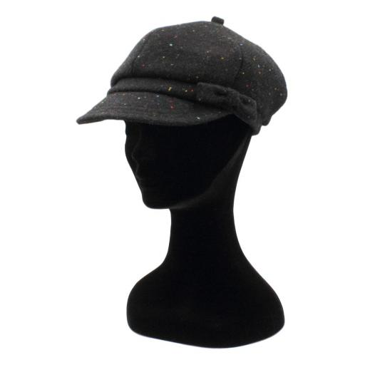 HARRIS TWEED BAKER BOY HAT WITH BOW BLACK MULTI SPECKLE SIDE_clipped_rev_1.jpg