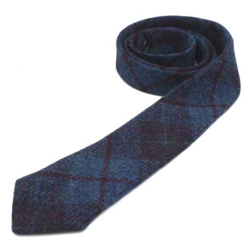 Harris Tweed Tie.JPG Navy Blue Wine Check Roll_clipped_rev_2.jpg