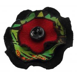 Circle Corsage Black Multi Speckle Joyous.jpg