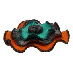 Circle Corsage Orange Paisley Corals Side.jpg