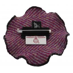 Small Circle Corsage Cerise Herringbone Back.jpg