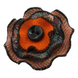 Circle Corsage Orange Herringbone Paisley Corals.jpg
