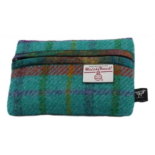 Zip Purse Turquoise Multi Check Tranquility.jpg