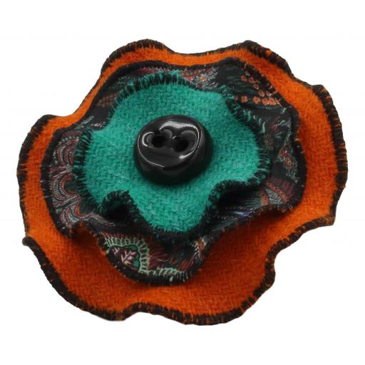 Circle Corsage Orange Paisley Corals.jpg
