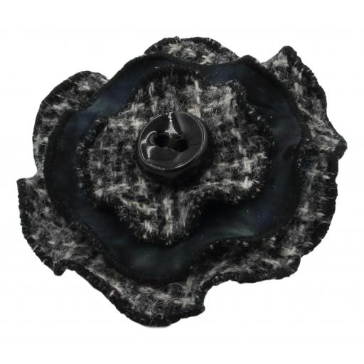Circle Corsage Black Grey Multi Check Black Batik.jpg