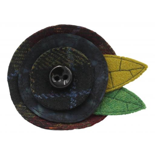 Art Deco Corsage Black Claret Olive Black Batik.jpg
